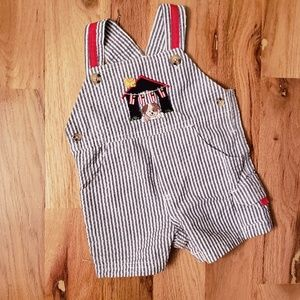 💥6/$25 Starting Out USA Puppy Searsucker shortall